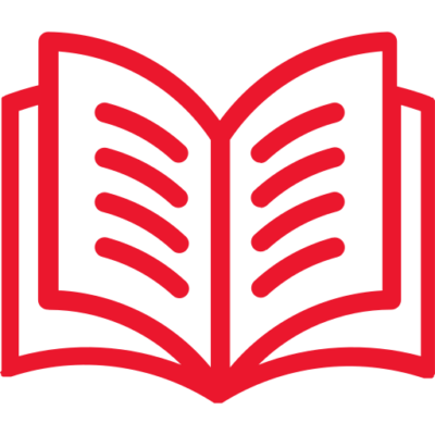 Open book icon red